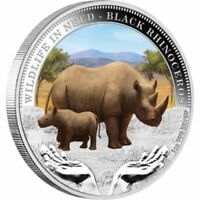 2012 PM $1 1OZ SILVER COLOURED WILDLIFE IN NEED SERIES BLACK