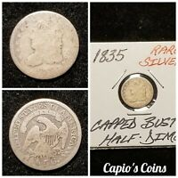 1835 SILVER CAPPED BUST HALF DIME