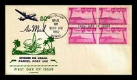 DR JIM STAMPS US COVER AIRMAIL 80C HAWAII FDC SCOTT C46 BLOC