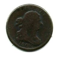 1808 DRAPED BUST HALF CENT ROTATED REVERSE