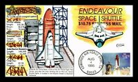 DR JIM STAMPS US COVER COLLINS HAND COLORED SPACE SHUTTLE PR