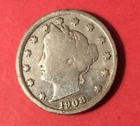 1908 LIBERTY HEAD BARBER V NICKEL  LIGHTLY CLEANED  FIVE CENT / 5 CENTS