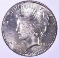 1923 PEACE SILVER DOLLAR - NGC MINT STATE 65 BINION COLLECTION