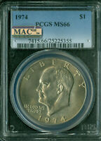 1974 EISENHOWER DOLLAR PCGS MINT STATE 66 PQ MAC SPOTLESS ONLY 1 FINER