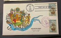 2093 ROANOKE VOYAGES FIRST DAY COVER WITH COLLINS HAND CACHE