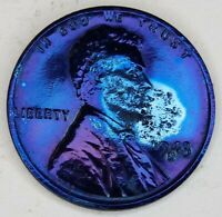 1943 S STEEL LINCOLN WHEAT CENT 1CENTVINTAGE BLUE COIN