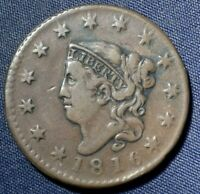 1816 LARGE CENT 1  NICE COIN