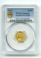 1927 INDIAN HEAD $2 1/2 DOLLAR GOLD COIN  UNC  PCGS LOOK  RE