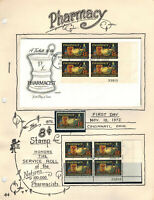 ORNATE PAGE FDC 1473 HONORING PHARMACY PHARMACISTS   PLATE B