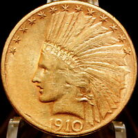1910 S $10 GOLD INDIAN HEAD EAGLE BEAUTIFUL COIN RARE DATE