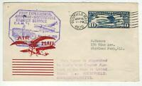 1928 1ST EXPERIMENTAL AIRPLANE MOTORCYCLE COURIER SERVICE WE