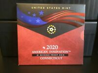 2020 CONNECTICUT AMERICAN INNOVATION REVERSE-PROOF DOLLAR COIN IN OGP