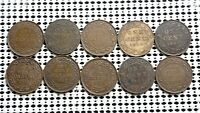 CANADA LARGE CENT COIN LOT OF 10  KING GEORGE V  NICE OLD GR