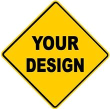 road sign design your own yellow diamond