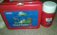 pound puppy lunch box thermos 1987 nice