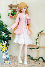 luts 1 4 1 3 bjd clothes pink lengthened