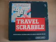 scrabble 1960 s travel by spears games board