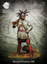 mohawk warrior 1760 tin painted toy