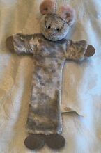 russ berrie mouse plush silver gray flat wire