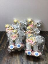 cherished teddies lot 6 pull a longs limited edition