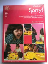 sorry game sorry board game 1977 waddingtons