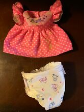 baby alive 1990 kenner pink dress bib stained