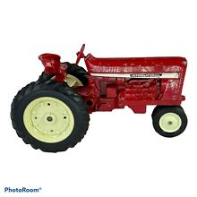 hubley red diecast farm toy tractor