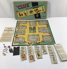 board game clue 1949 1950 early rare edition