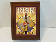 risk game collection wooden library book