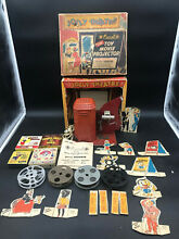 toy movie projector jolly theatre 16mm excel 1947 w