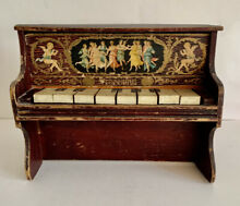 antique dollhouse victorian toy playing piano