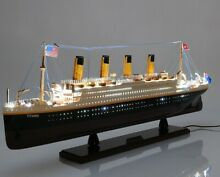 titanic rms lights 32 display ship model