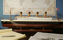 titanic display model 32 wood cruise ship