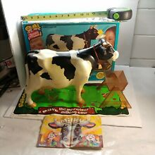 milky marvelous milking cow 1977 kenner w pail trough book