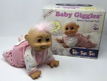 russ berrie baby giggles troll doll crawling
