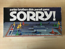 sorry game 1972 parker brothers sorry board