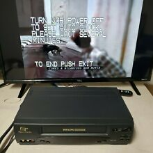 magnavox philips 4 head hi fi vhs player