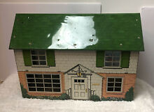 antique dollhouse marx two story metal doll house tin