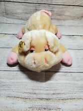 russ berrie pudgy pig plush by co 1980s 10 5