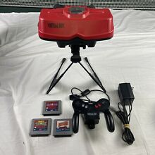 nintendo virtual boy system w games stand right lens