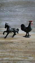 williams cast iron rooster horse still banks