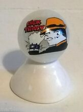 dick tracy tv detective on white pearl marble