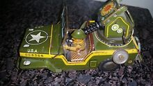 tin air command toy jeep military