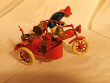 motorcycle tin toy mechanical tucher walter