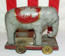 1930 toy metal circus elephant friction