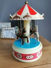 merry go round wind up musical horses carousel