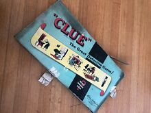 board game 1950 clue parker bros incomplete w