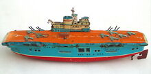 marusan tin toy usaf aircraft carrier wind