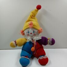 russ berrie luv pets plush clown coco red