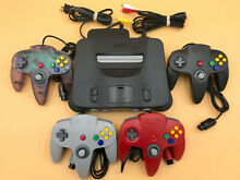 nintendo n64 64 console up to 4 new